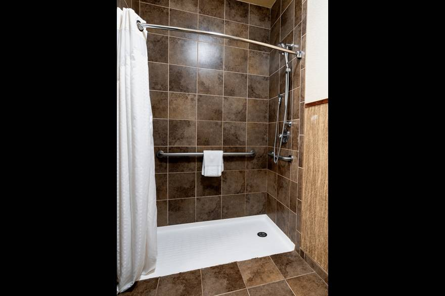 ADA Roll-in shower at Holiday Inn West Yellowstone