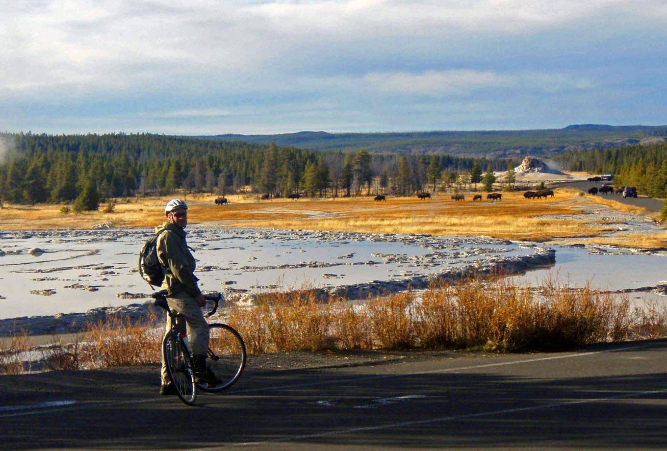 Bicycling in Yellowstone National Park