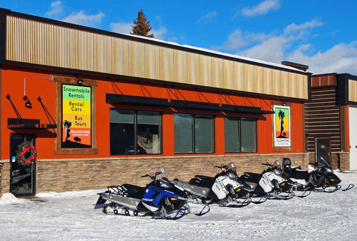 Yellowstone Vacations snowmobile sales
