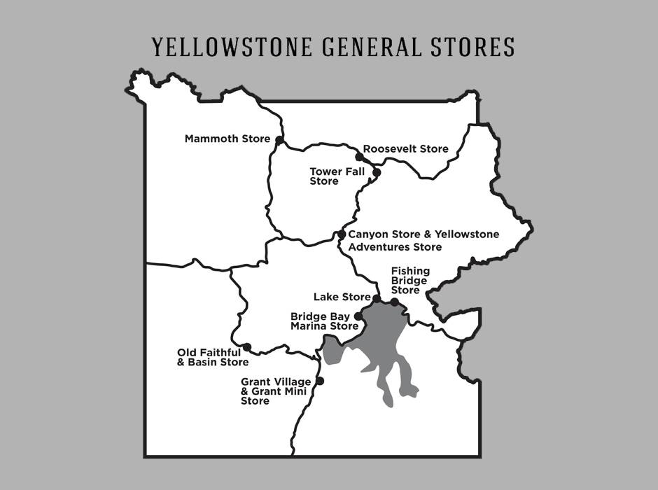 Yellowstone General Stores area map