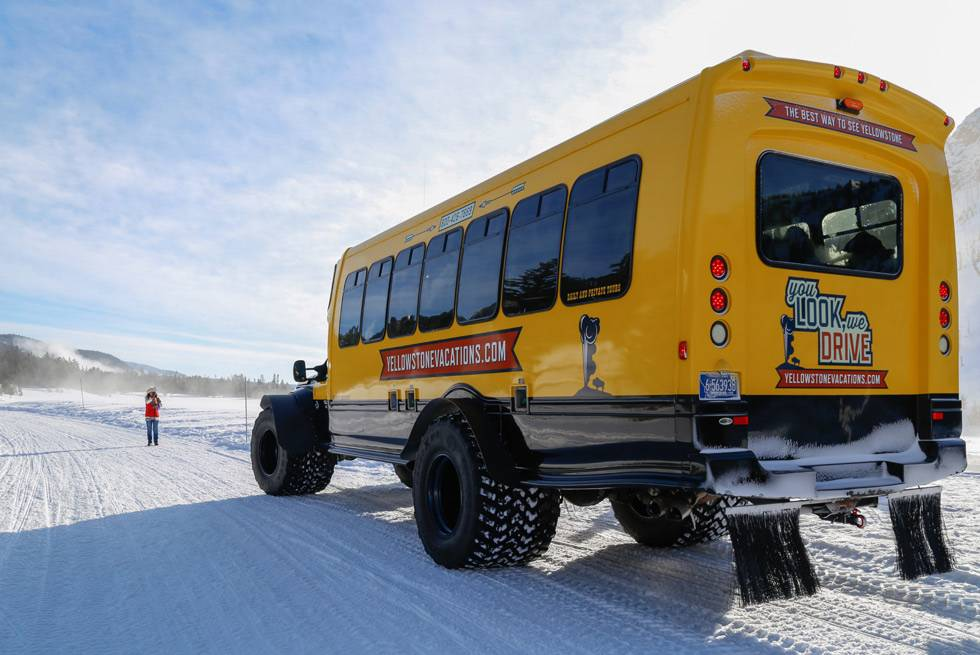 Snowcoach tours of Yellowstone National Park with Yellowstone Vacation Tours