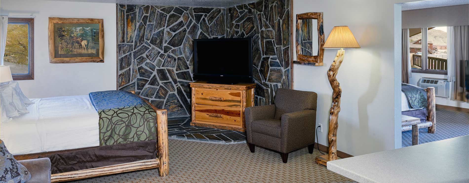 The Ridgeline Hotel at Yellowstone guest room interior